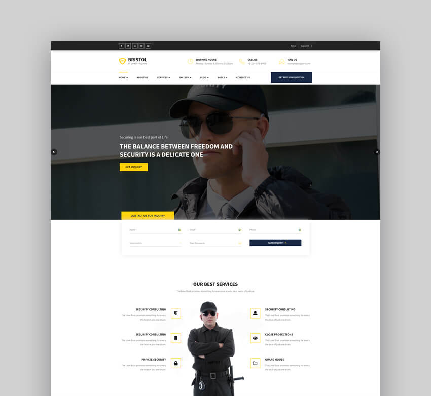 Bristol - Security  Guarding Services WordPress Theme