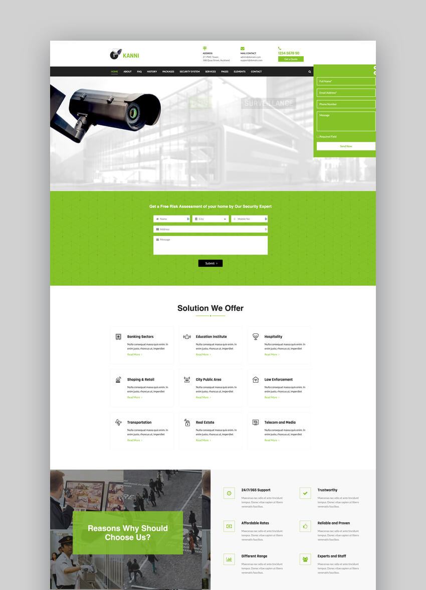 Kanni - Home Automation CCTV Security WordPress Theme