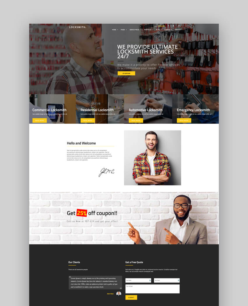 Locksmith - Security Systems WordPress Theme