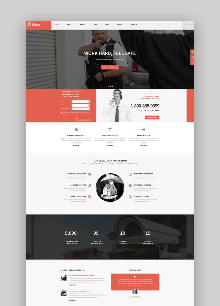 ProGuards - Safety Body Guard  Security WordPress Theme