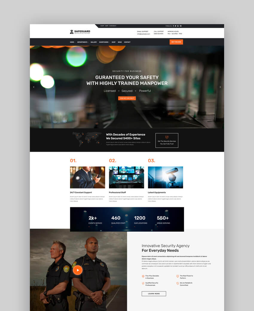 Safeguard - Security  Guard Theme For WordPress