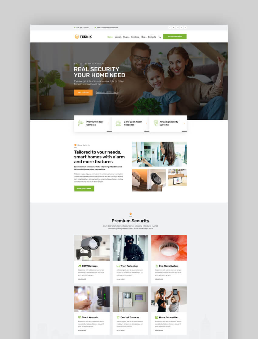 Teknik - Home Security Agency WordPress Theme