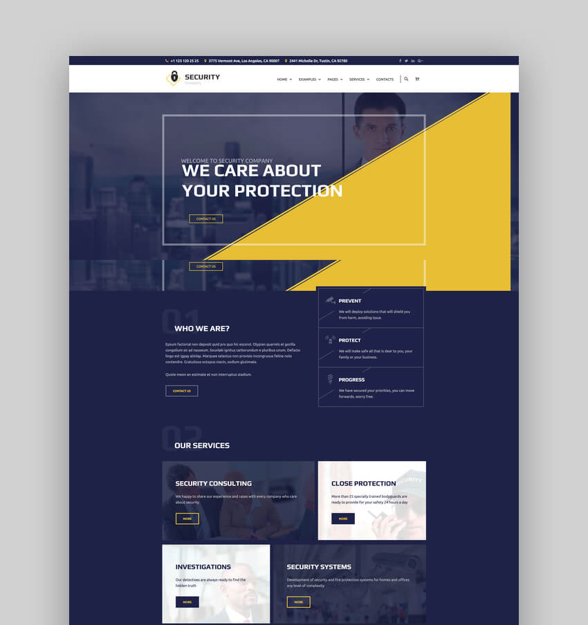 The Guard  Security Company WordPress Theme