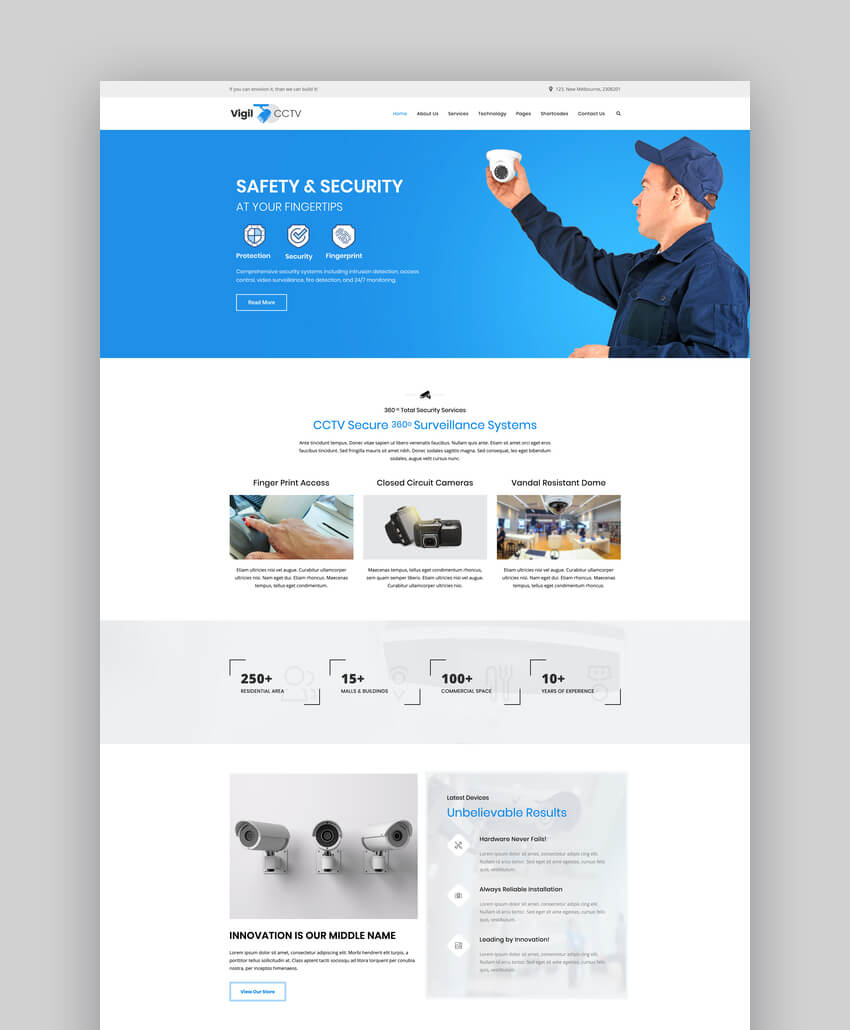 Vigil - CCTV Home Security WordPress Theme