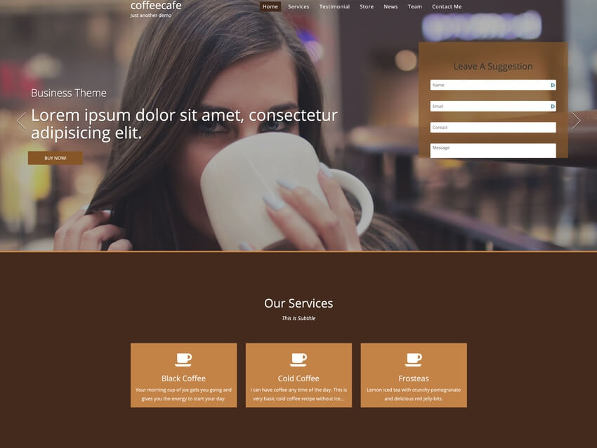coffeecafe - WordPress Theme