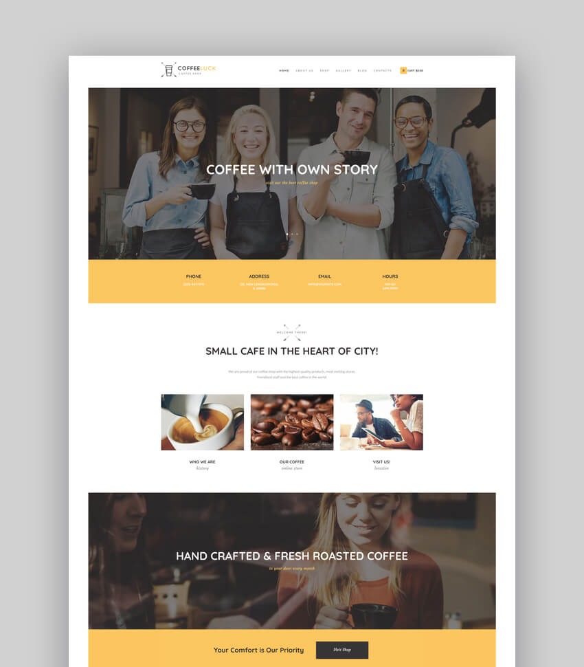 Coffee Luck  Cafe Restaurant  Shop WordPress Theme