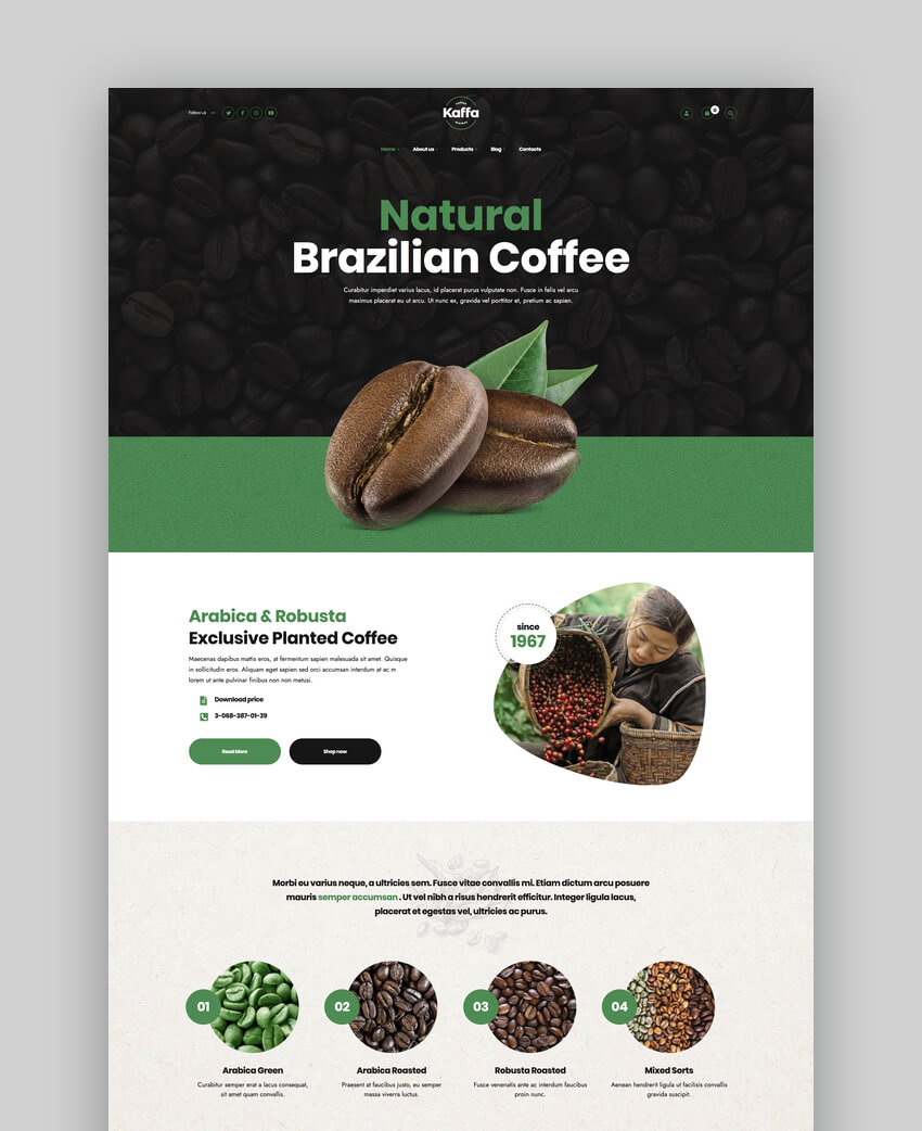 Kaffa - Cafe  Coffee Shop WordPress Theme