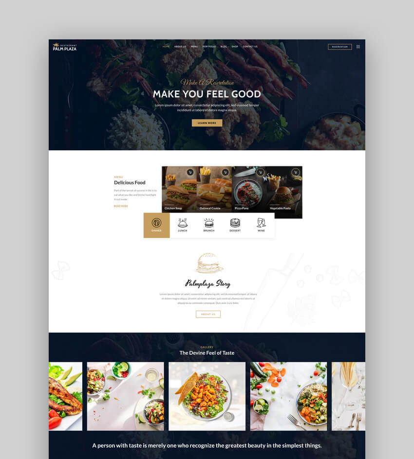 Palmplaza - Restaurant  Cafe WordPress Theme