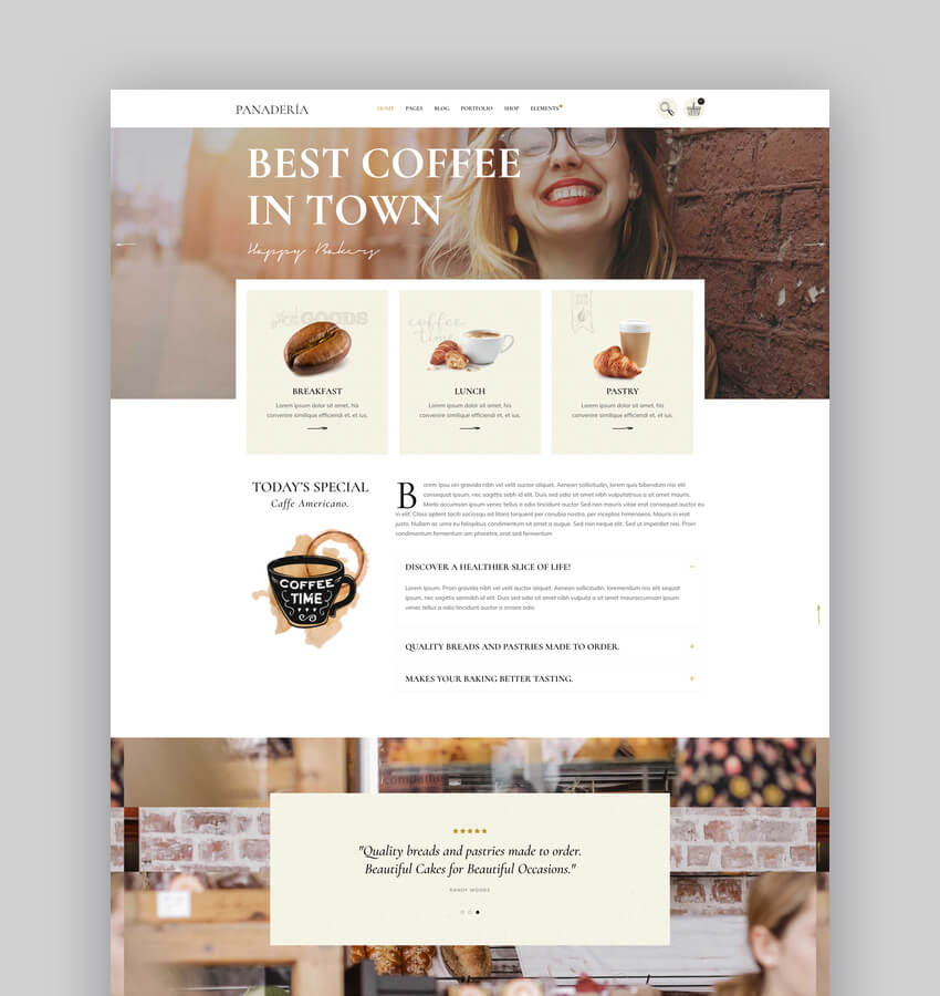 Panadera - Bakery and Pastry Shop Theme