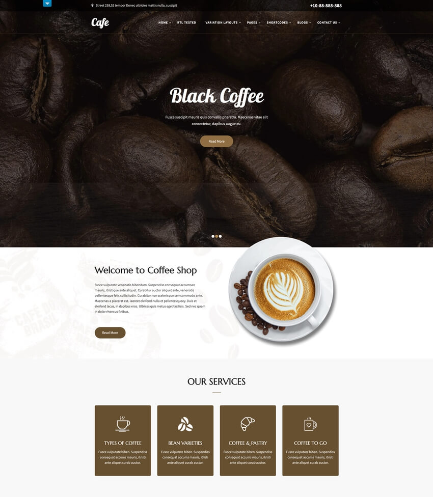 SKT Cafe - WordPress Theme