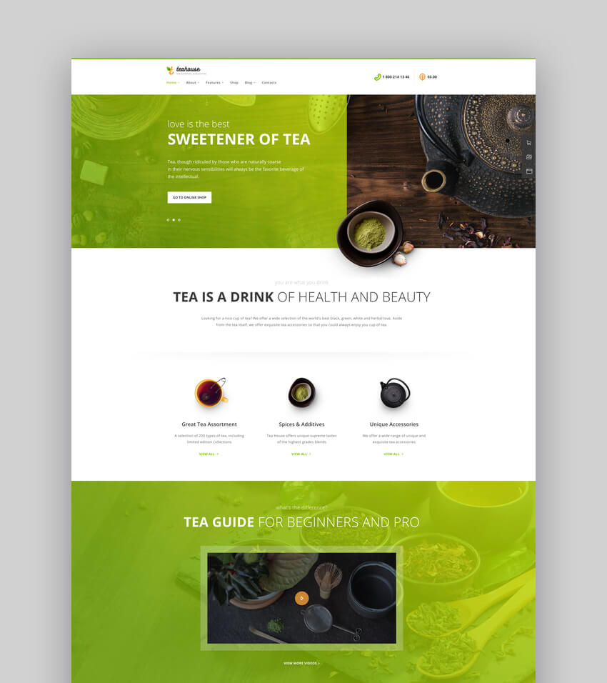 TeaHouse  Tea Store and Coffee Shop WordPress Theme