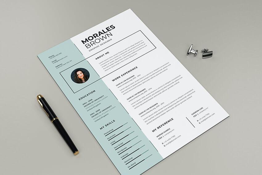 CV Resume with columns