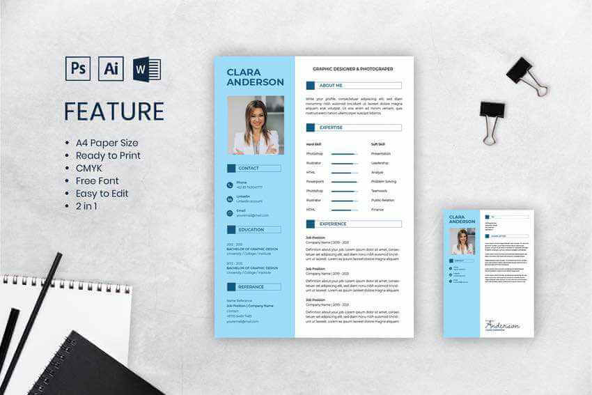 Try this creative resume design if you want to stress power words in your resume