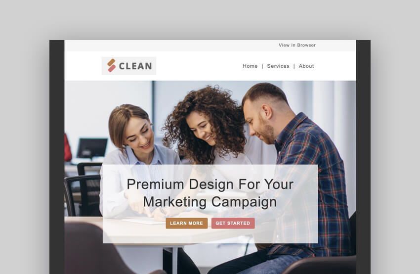Clean - Mailchimp Responsive Template
