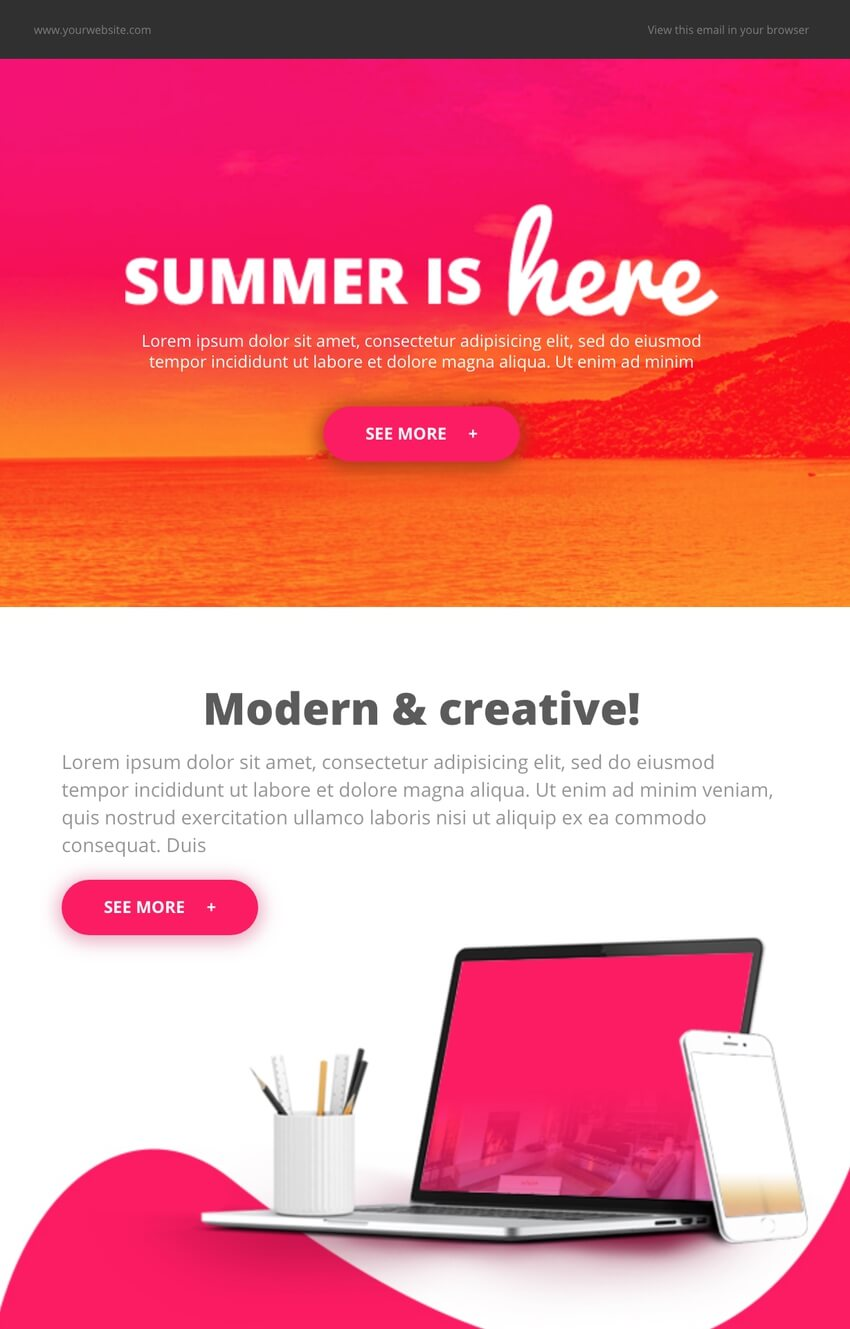 Free MailChimp Template for Your Summer Email Campaigns