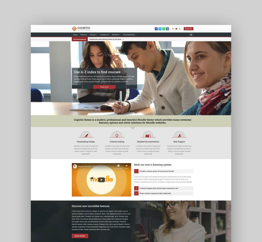 Cognitio  University Website Theme For Moodle