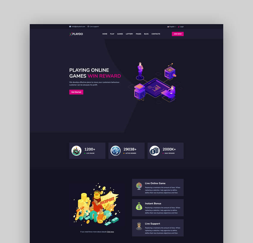 Playdo - Online Gaming HTML Template