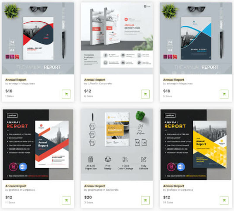 Modern Annual Report Templates on GraphicRiver