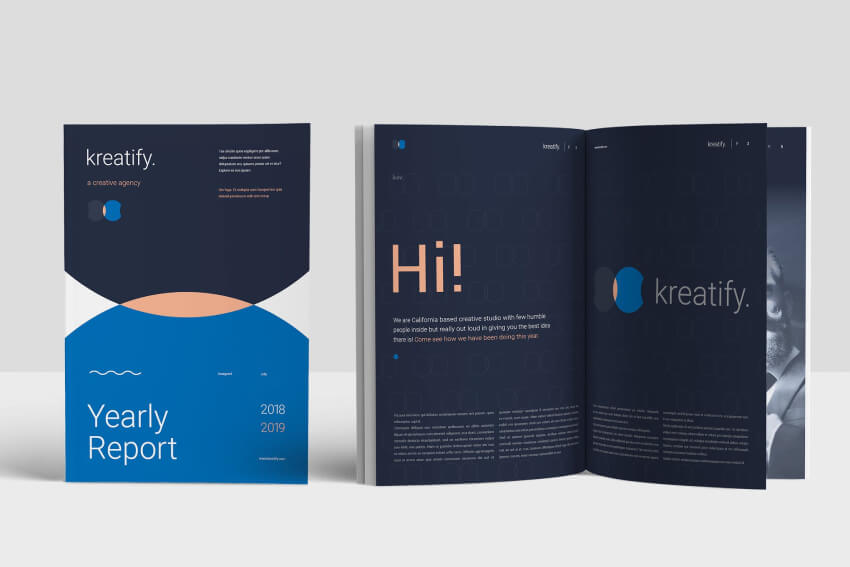Annual Report Example With Great Text Hierarchy