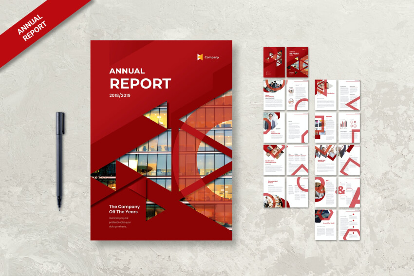 Annual Report With Engaging Cover Design