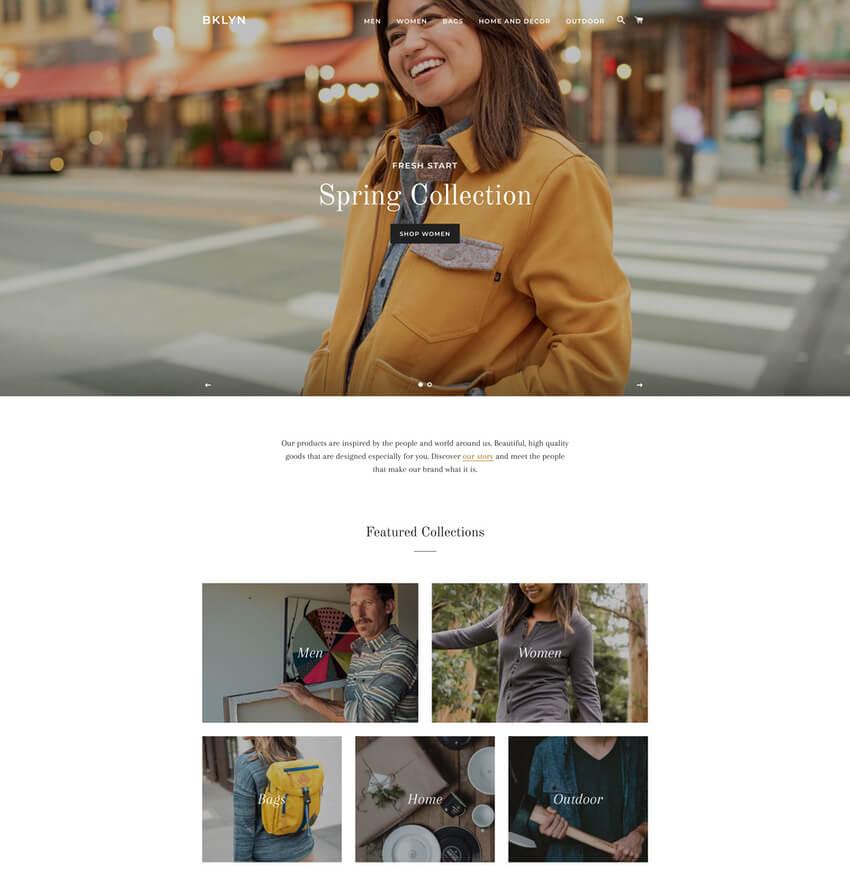 Brooklyn Theme - Free Ecommerce Website Template