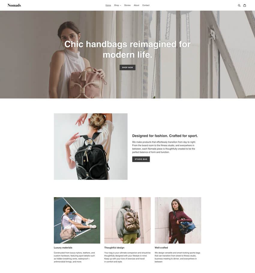 Debut Theme - Free Ecommerce Website Template