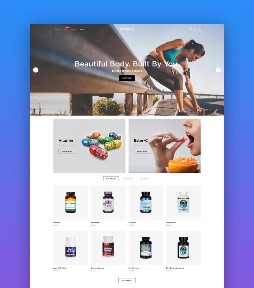 Esteva - Nutrition and Wellness Shopify Theme