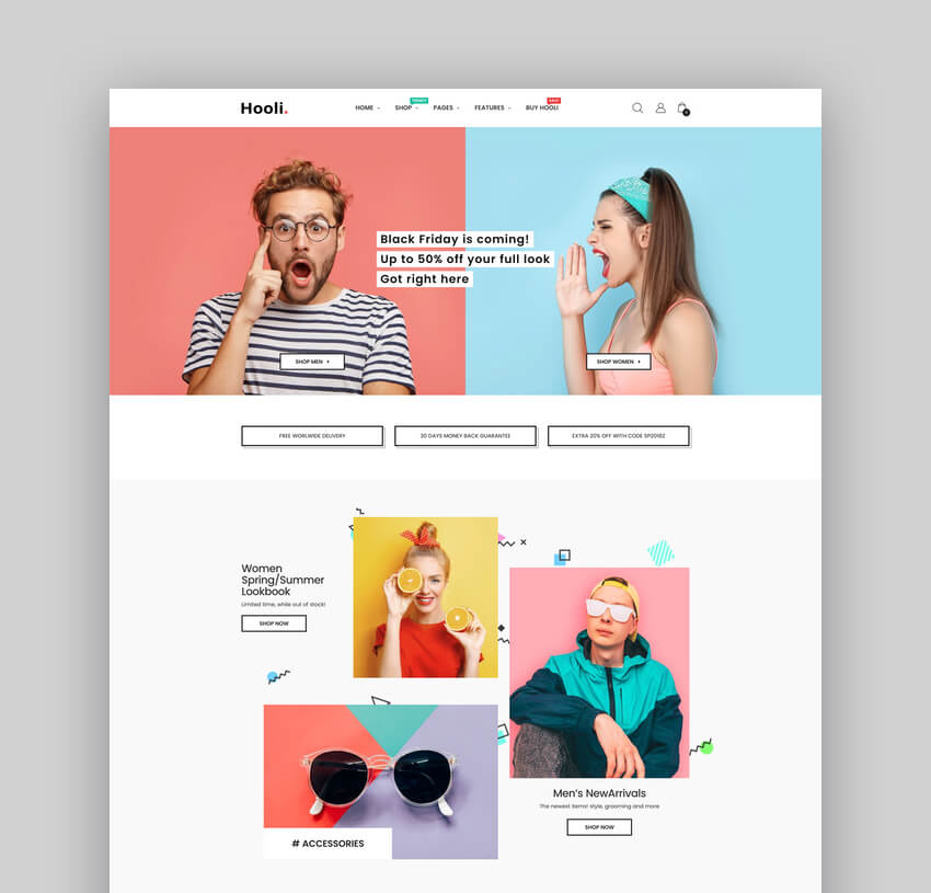 Hooli - Clean Responsive Shopify AR Theme