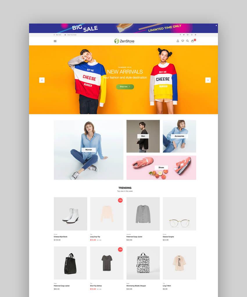 ZenStore  Multi-Purpose Shopify AR Sections Theme