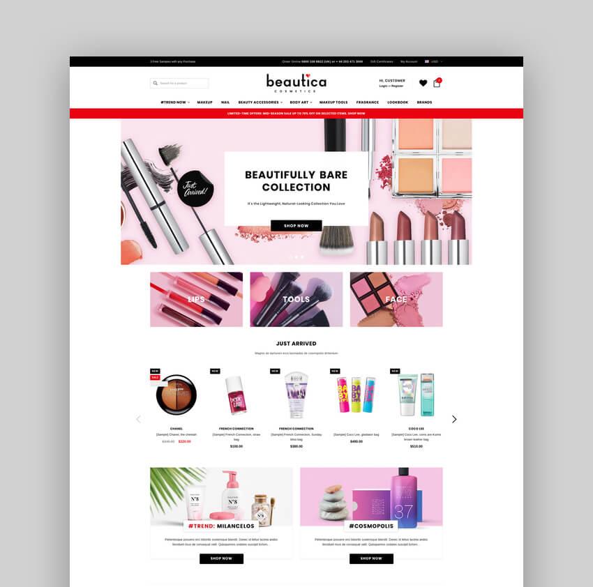 Beautica - Premium Responsive BigCommerce Theme
