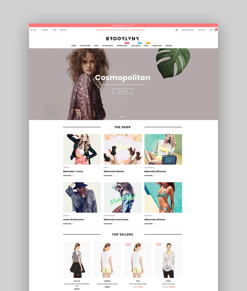 Brooklynk - Premium Responsive Fashion BigCommerce Theme