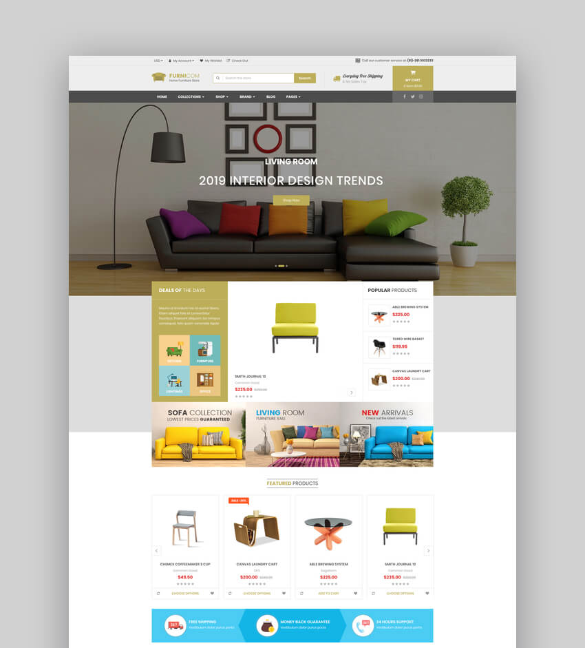 Furnicom - The Interior Architecture and Furniture BigCommerce Theme
