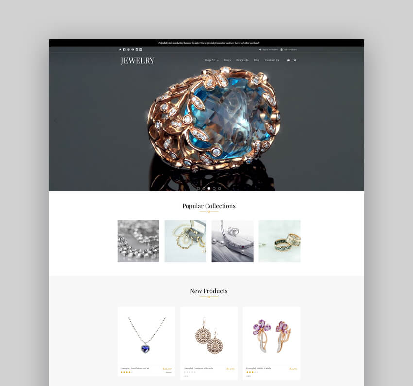 Jewelry Parallax BigCommerce Stencil Theme