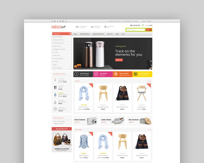 Mega Shop - Multipurpose Stencil BigCommerce Theme