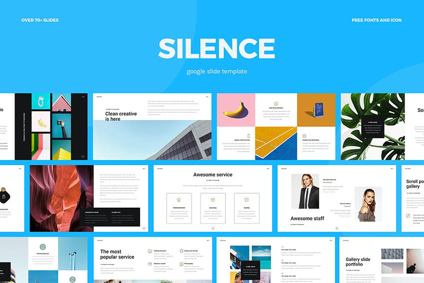 Silence Google Slides template