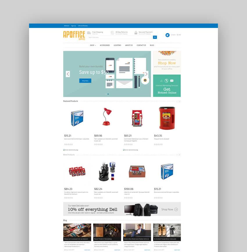 AP Office Minimal BigCommerce Template
