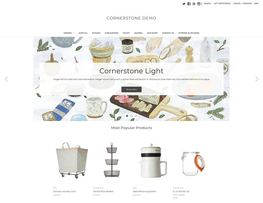Cornerstone Light Free BigCommerce Template