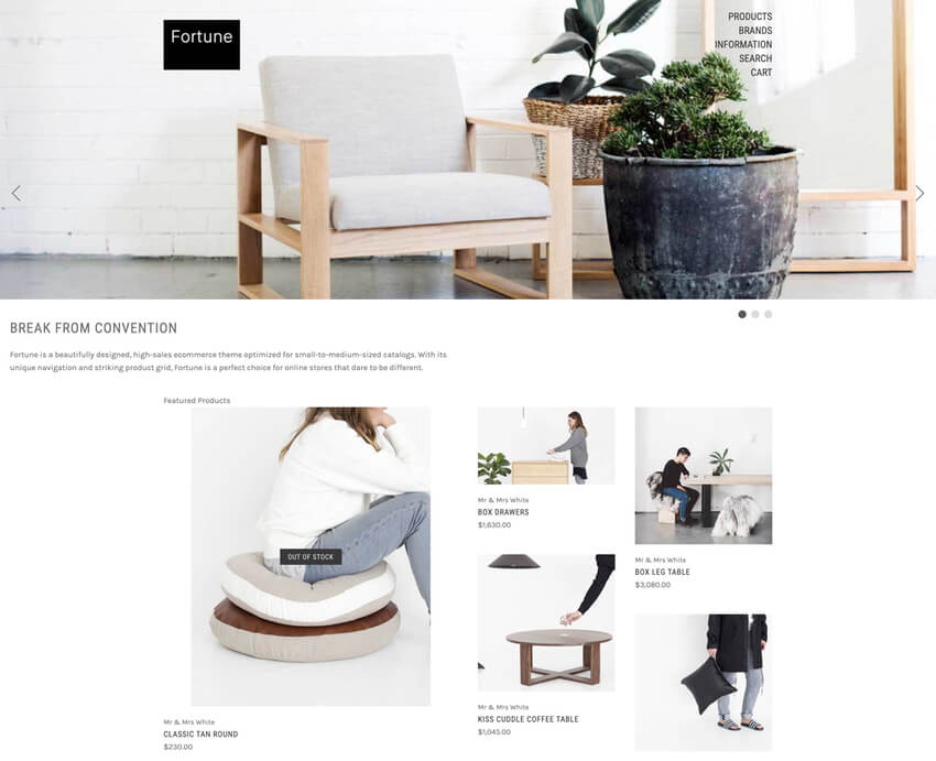 Fortune Minimal BigCommerce Template Free Download