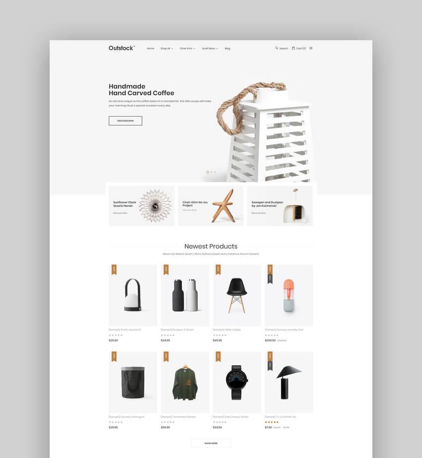 Outstock - Premium Responsive Furniture BigCommerce Template