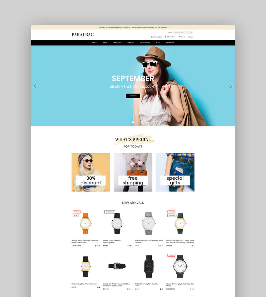 Paralbag - Responsive BigCommerce Template
