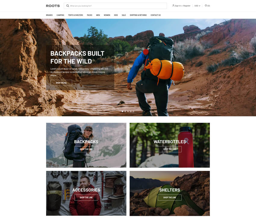 Roots Free BigCommerce Template