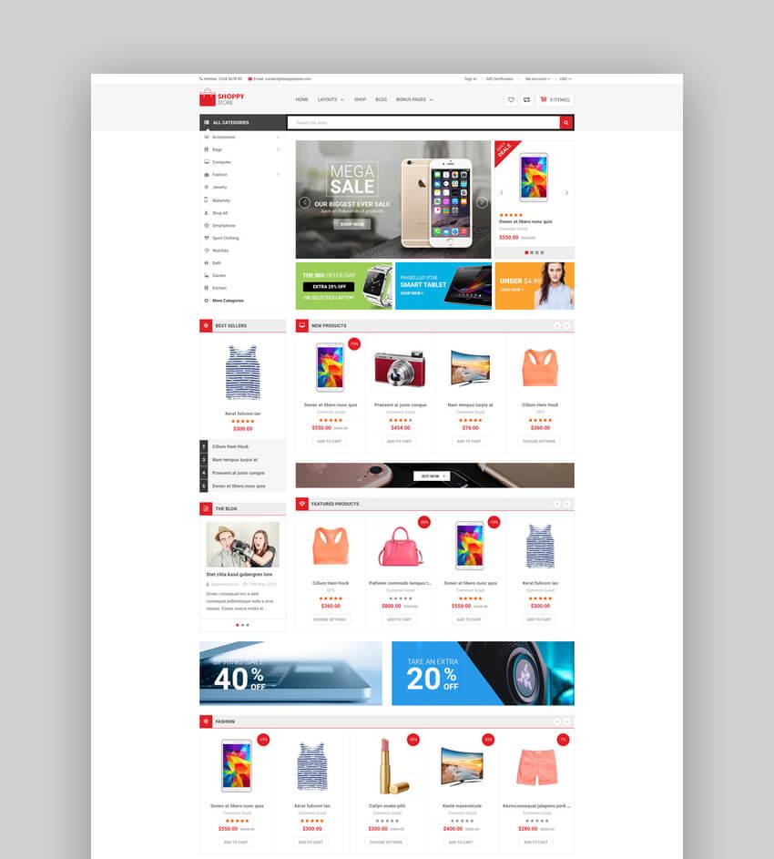 ShoppyStore - Multipurpose Stencil Responsive BigCommerce Template