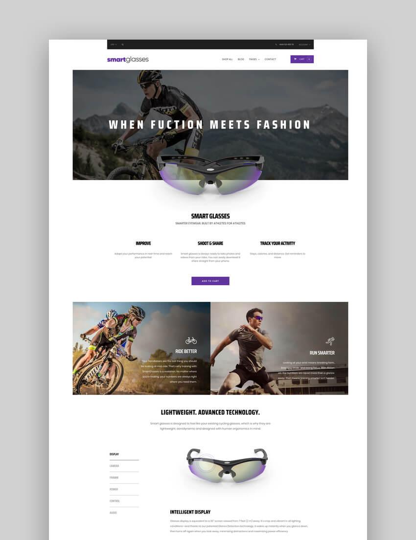SmartGlasses - Single Product BigCommerce Template