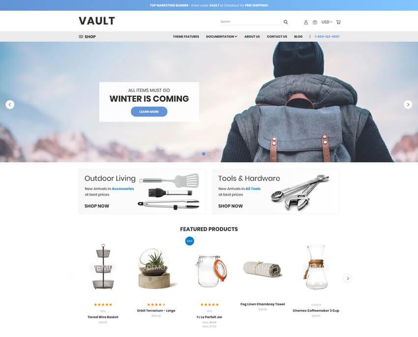 Vault Free BigCommerce Template