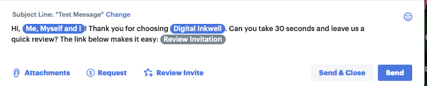 Review invite on Podium