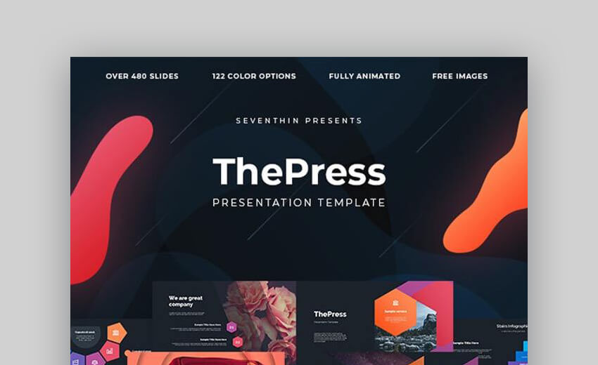 ThePress - Animated Powerpoint Template For Project Status Reports