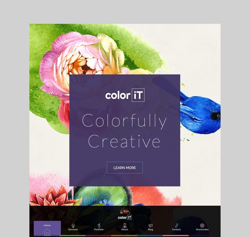 ColorFolio - Freelance Designer WordPress Theme