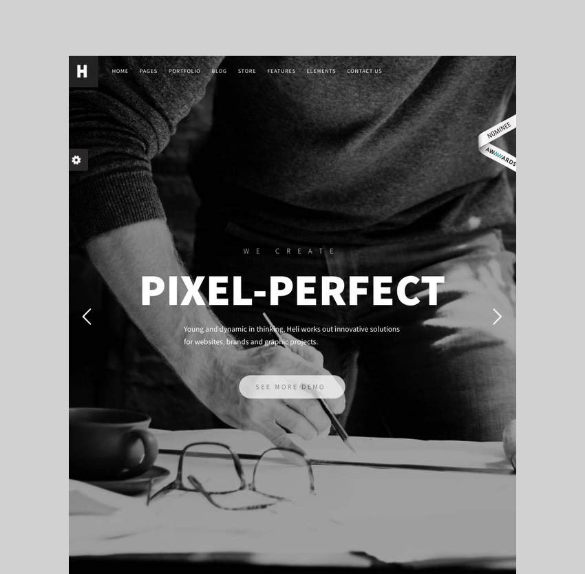 Heli - Minimal Creative WordPress Theme