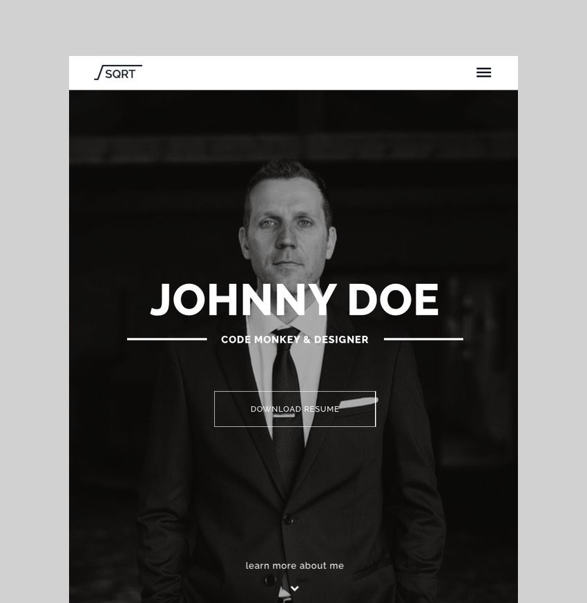 Squareroot - WordPress Resume Theme