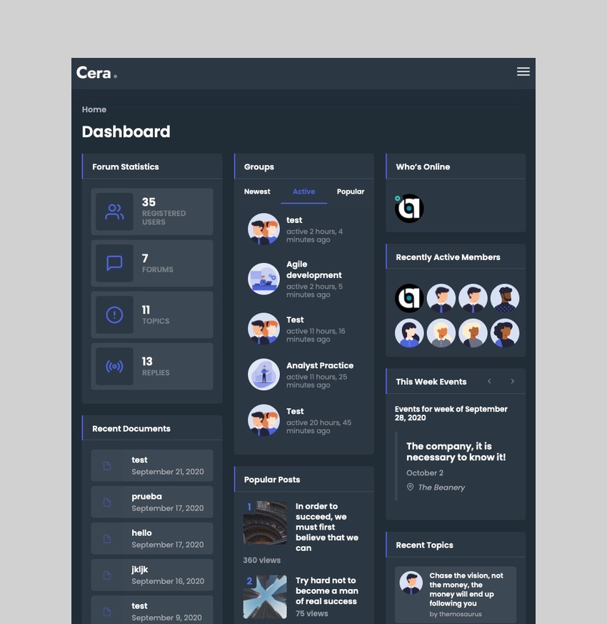 Cera - Intranet and Community WordPress Theme